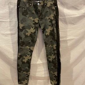 Halley and Belle Kinney Ankle Camo Jeans